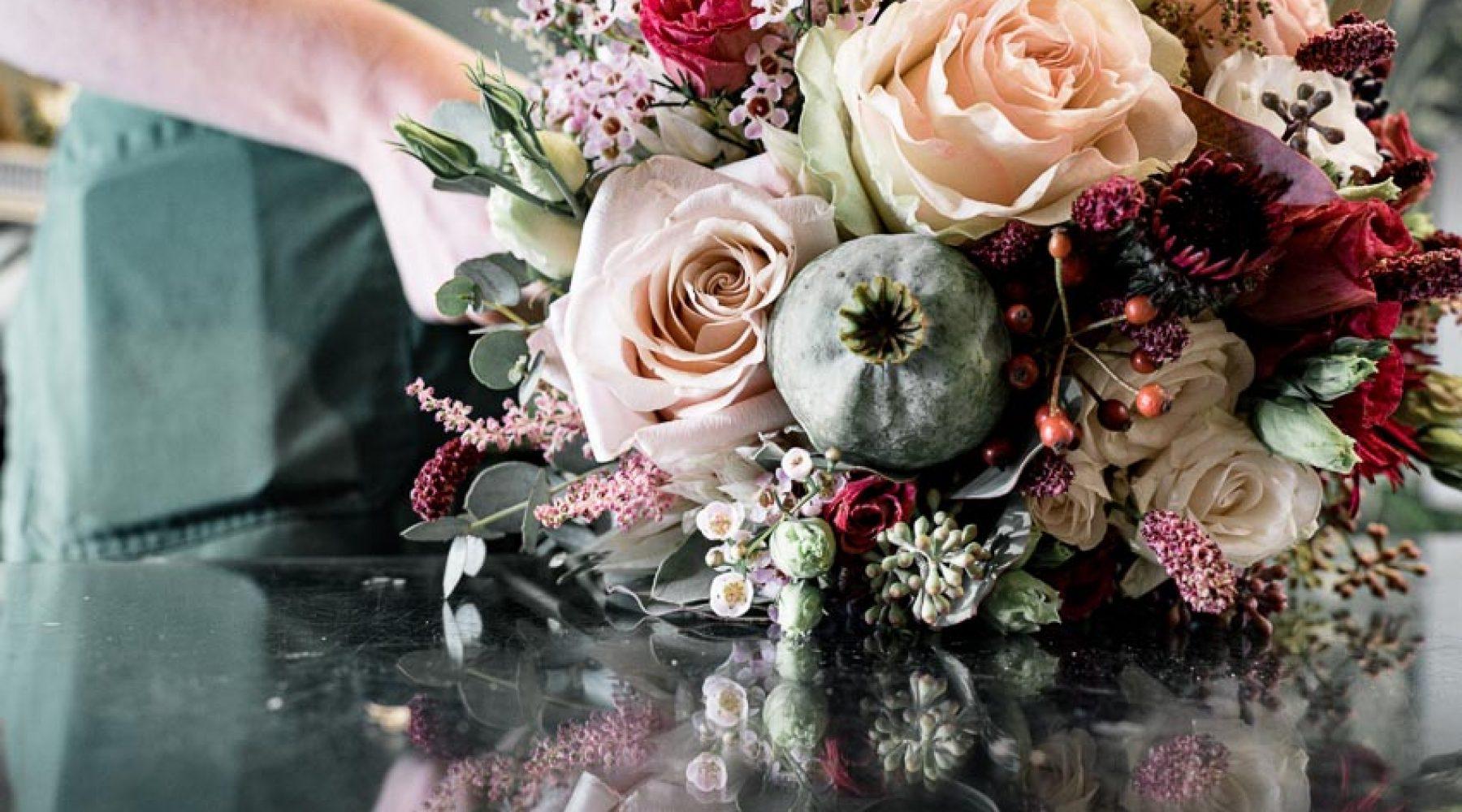 Herbst Brautstrauß