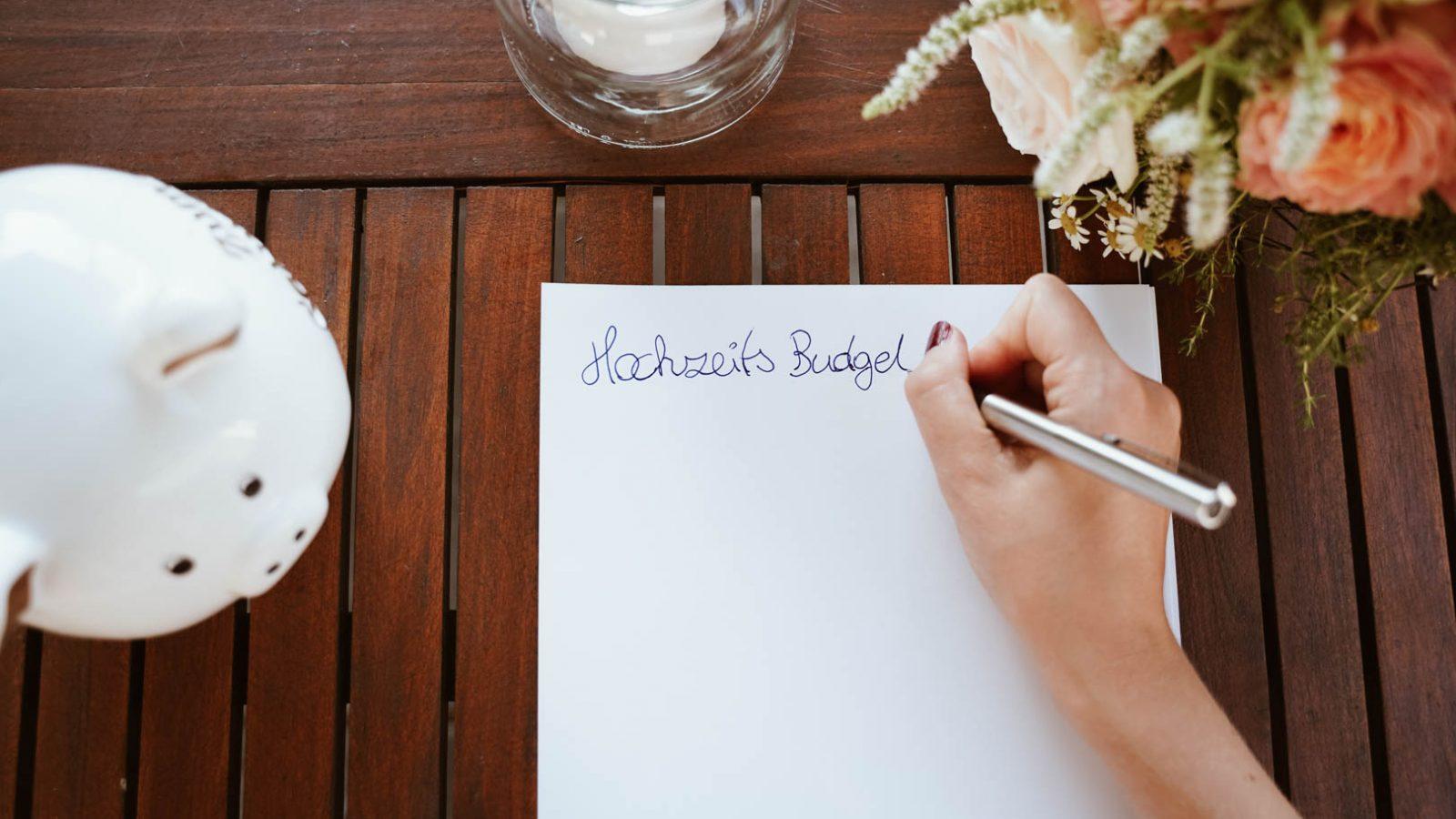 Hochzeitsbudget planen